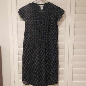 H&M Navy Polka Dotted Dress